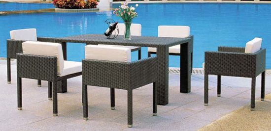 China Modern Design Garden Furniture Outdoor Wicker Table and Chairs ...