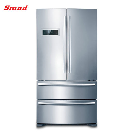 China French Door Refrigerators Stainless Steel Side By Side Refrigerator China French Door Refrigerators With Ice Maker And French Door Fridge Price