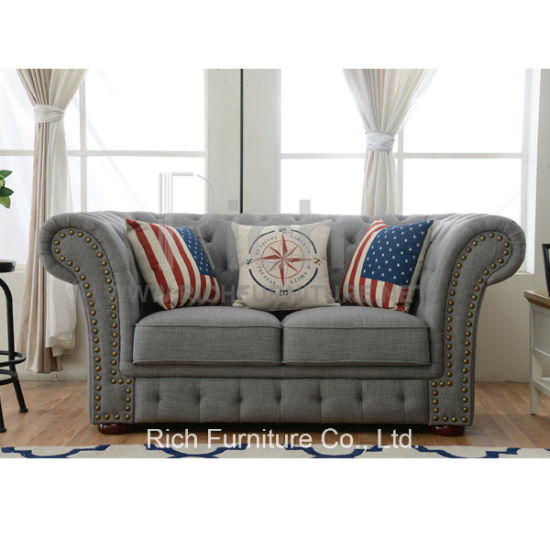 Fabric Chesterfield Sofa for Living Room