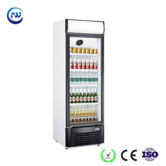 China 268 Liter Glass Door Upright Refrigerator With Fan Cooling Lg