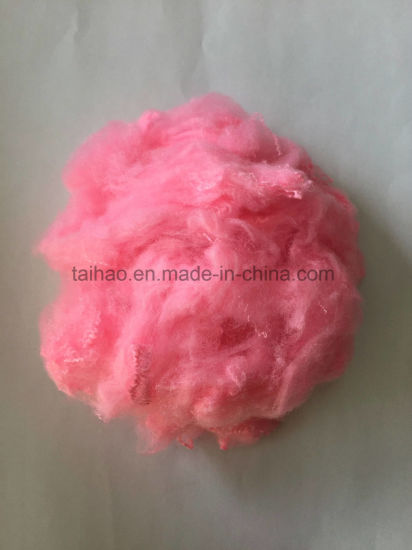Colored Polyester Staple Fiber Pink pictures & photos