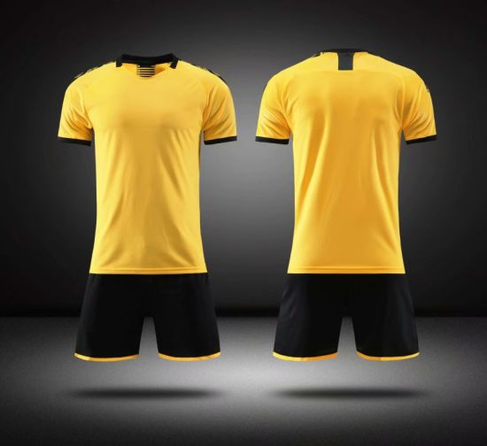 2019-2020 New Borrussia Dormund Home Soccer Uniforms Wear, Kid Yellow Football Kit