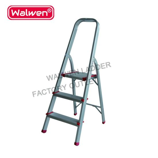 Fabulous 3 Steps Folding Household Ladder Aluminum Safety Step Ladder Alphanode Cool Chair Designs And Ideas Alphanodeonline