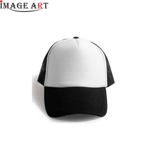 Sublimation Blank Custom Polyester Cotton Baseball Hat Cap (Black color)