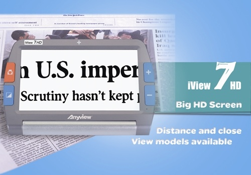 Iview 7HD Handheld Video Magnifier for Low Vision Aids pictures & photos