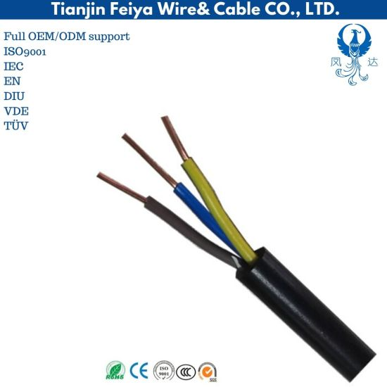 BS En 50525-2-11 4X1.5 Sqmm Flexible 309-Y H05V2V2-F 300/500V Cu/PVC/PVC Electrical Wire and Cables