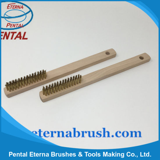 Golden Steel Wire Brush for Removing Rust pictures & photos