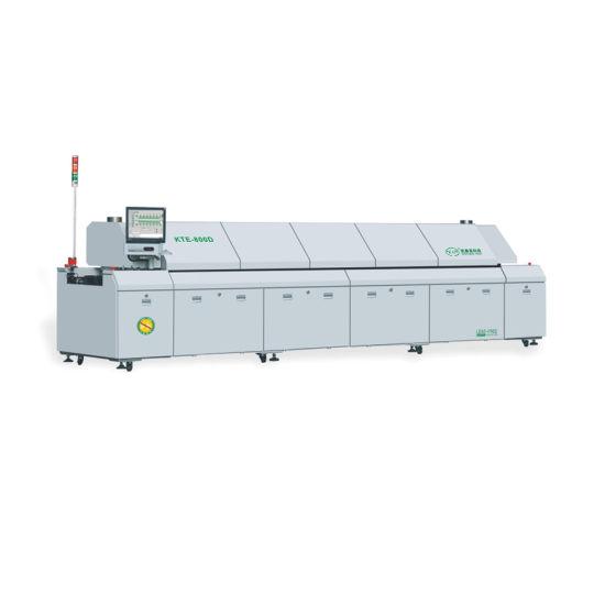 SMT Automatic PCB Soldering Machine Dual Rails 8 Zones Hot Air Reflow Oven Kte-800d