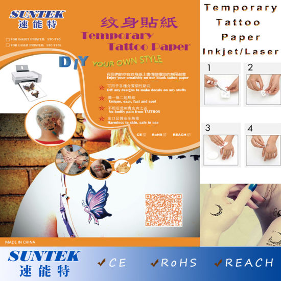 China Temporary Tattoo Sticker Water Decal Transfer Paper