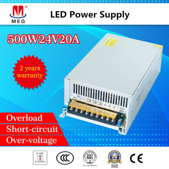 China AC/ DC 24V 21A Switching Power Supply 500W Industrial SMPS ...