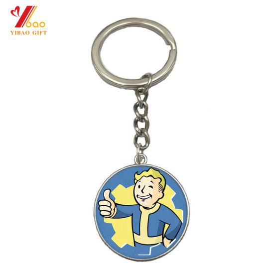 Custom Made Long Lovely Key Shapes Soft Enamel Metal Key Chain with Logo