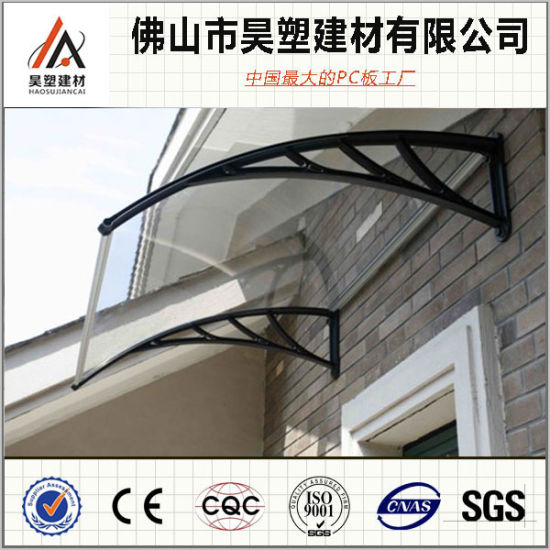800*1000mm Polycarbonate Solid Awning Aluminum Frame Balcony Canopy Outdoor Buliding Materials
