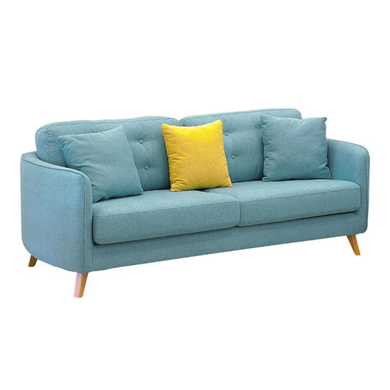 North Europe Style Sofa Furniture Simple Modern Living Room 3 Seater Sofa  Single 1 Seat Fabric Sofa