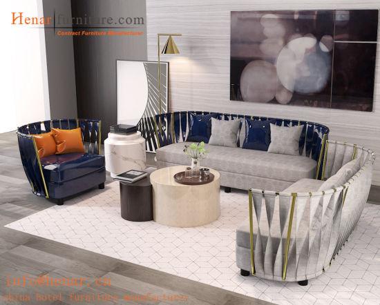 Wholesale Hotel Lobby Living Room Sofa Guangzhou Manufacturer