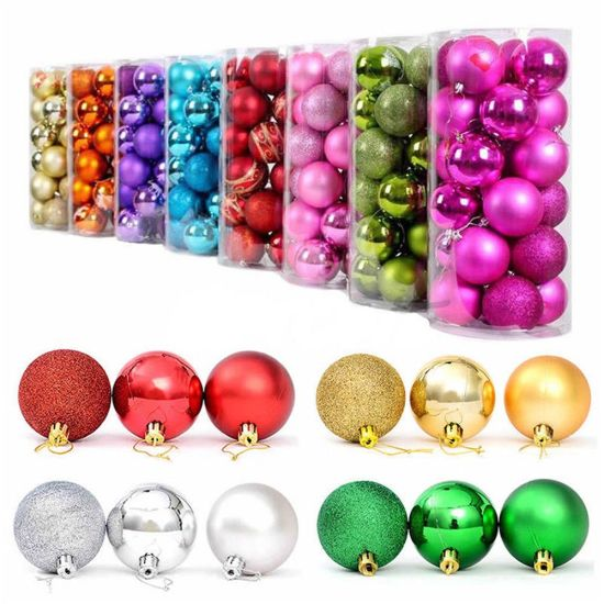 Christmas Ornament 4/6/8 Cm Christmas Tree Balls Baubles Xmas for Home Party pictures & photos