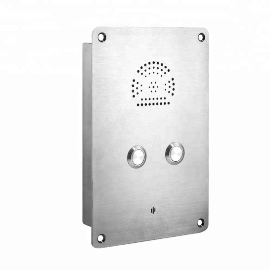 Flush Mounting IP66 Weatherproof Rugged Telephone Hook Switch Elevator Phone