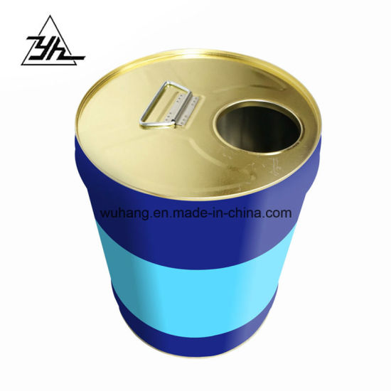 Tin Bucket Metal Tin Barrel with Close Mouth pictures & photos