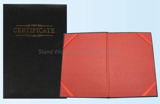 china graduation certificate paper cover china weld album pp album