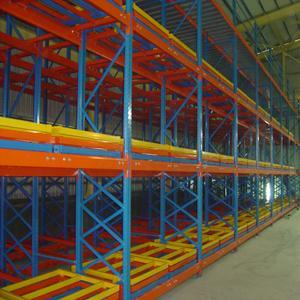 Heavy Duty Metal Push Back Pallet Racking for Warehouse Storage