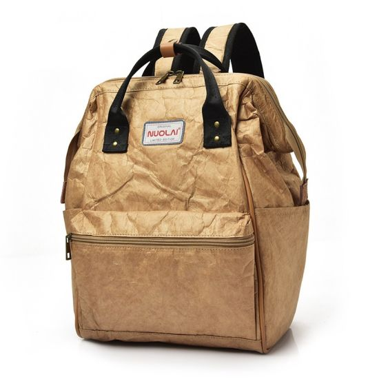 Korean Hot Retro Kraft Paper Women Leisure Backpack pictures & photos