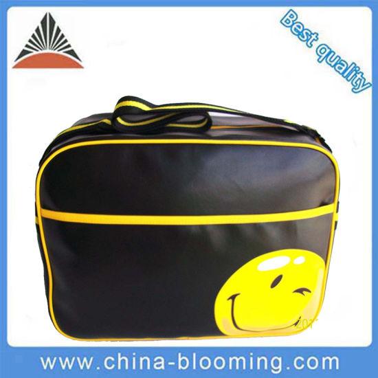 Smile Face Sling Doent Custom Shoulder Ager Pu Messenger Bag