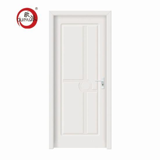 China Classical Design Office Simple Sound Proof Plain White Bedroom Door For Sale China Wooden Door Interior Door