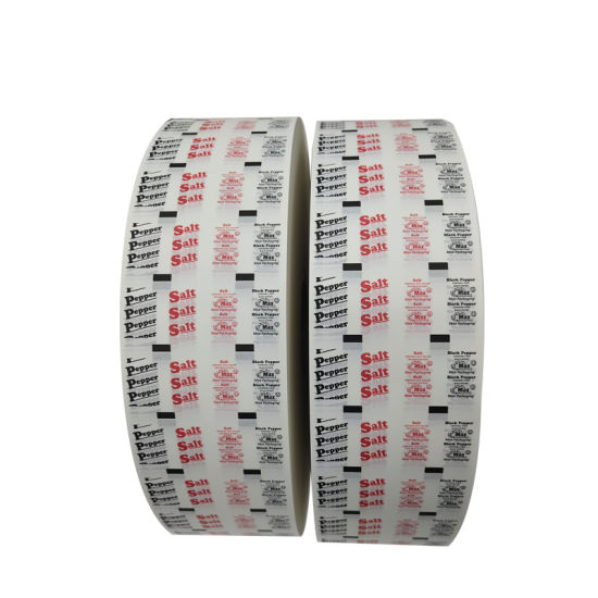 Printed PE Coated Paper Roll Paper for Packing Salt Pepper