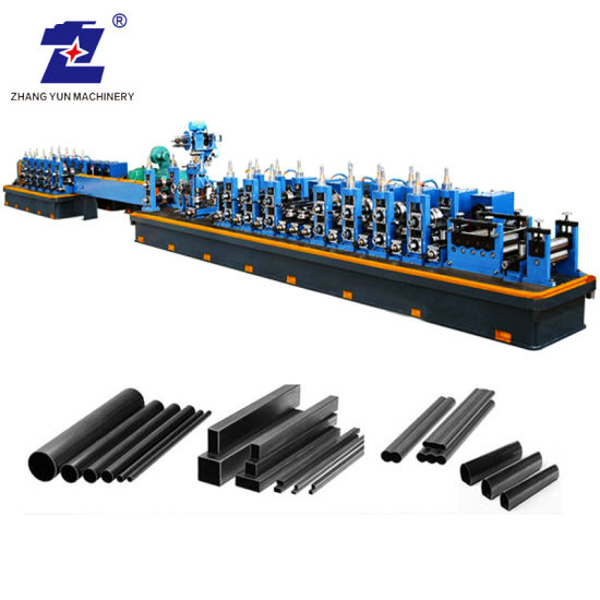 Customized Auto PLC Control Tile Carbon Steel Seam Tube Square Round Pipe Roll Forming Welding/Welded Making Machinery Production Line