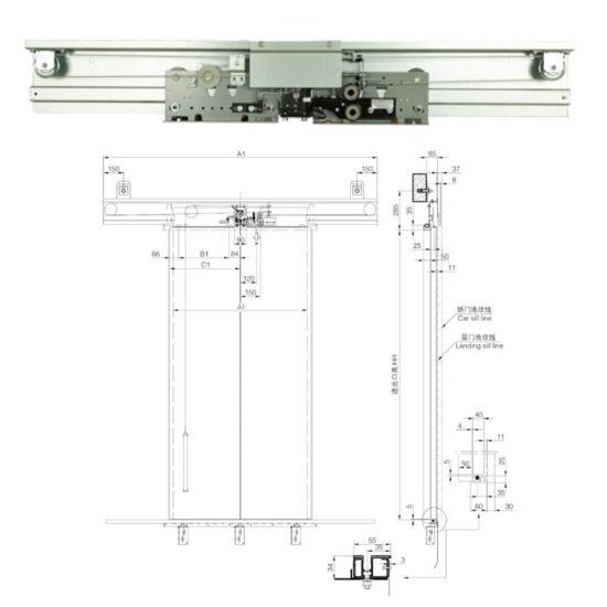 Elevator Spare Parts Mitsubishi Type Automatic Landing Mechanism Door  Hanger / Hearder