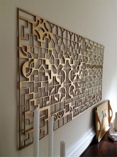 China Laser Cut Metal Decorative Wall Art Panel For Home