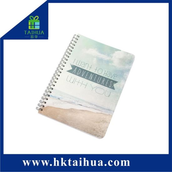 Wholesale Removable Lovely PVC Cover A5 Plastic Spiral Notebook