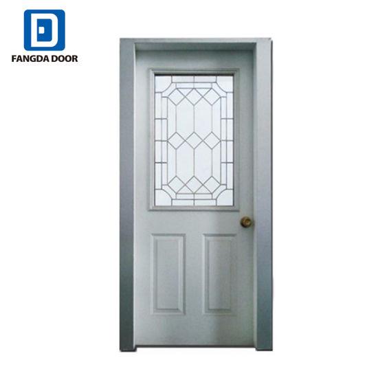 China Glass Half Lite Prehung Steel Entry Door China Prehung Steel