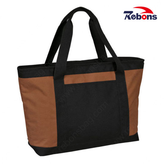 Large 600d Polyester Vinyl Plain Tote Shopping Bags on Sale