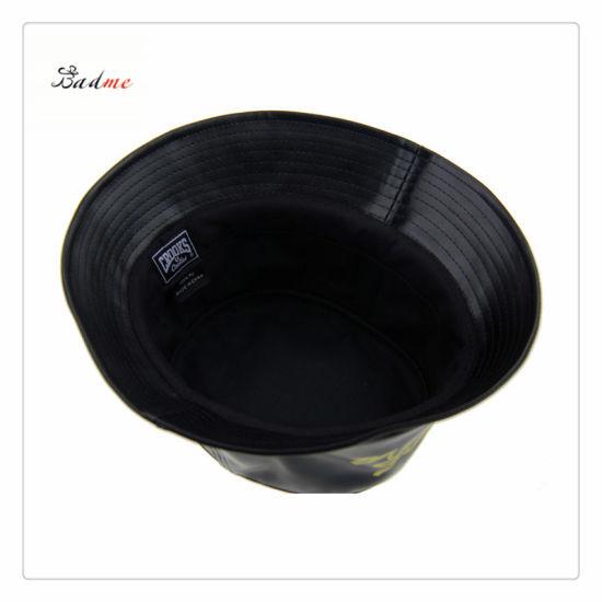 f558b195 China Fashion PU Leather Bucket Hats/Winter Hat/Fisherman Hat ...