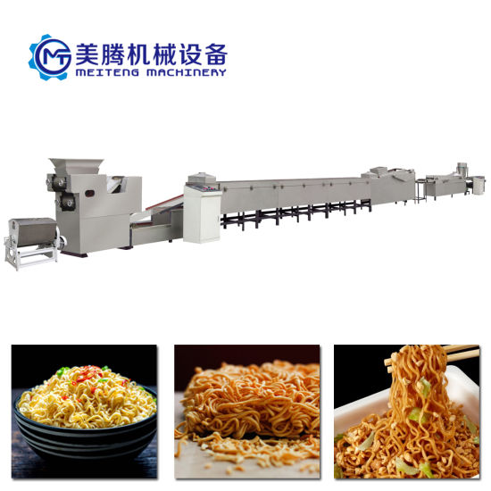 Square/Round Shape Mini Fried Instant Fast Noodle Processing Line Automatic Noodle Making Machine