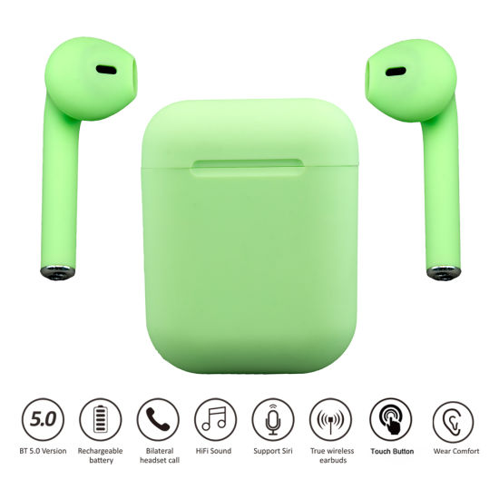 Factory Wholesale I12 Marcaroon Inpods Bluetooth Stereo Earphone for Smart Phone Earbuds