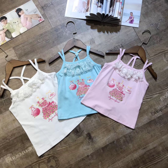Wholesale Children Clothing Stock Appear Beautiful Cute Vest for Girl