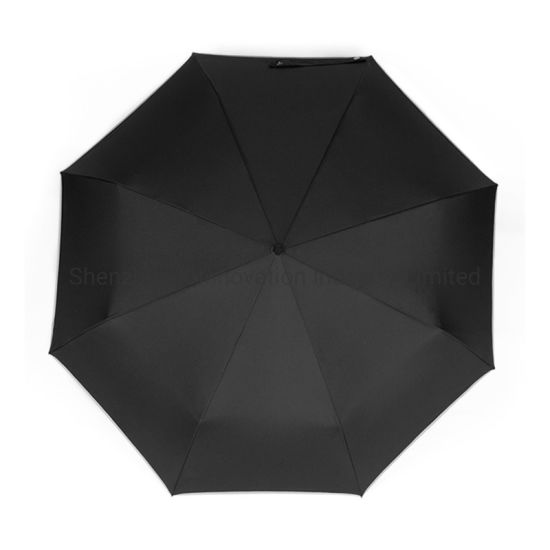 Good Quality Cheap Windproof Portable 3 Folding Automatic Open Umbrella pictures & photos
