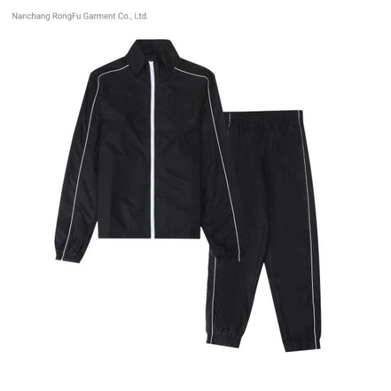 Customize Gym Sportsuit Training Outdoors Sport Running Zipper-up Tracksuit
