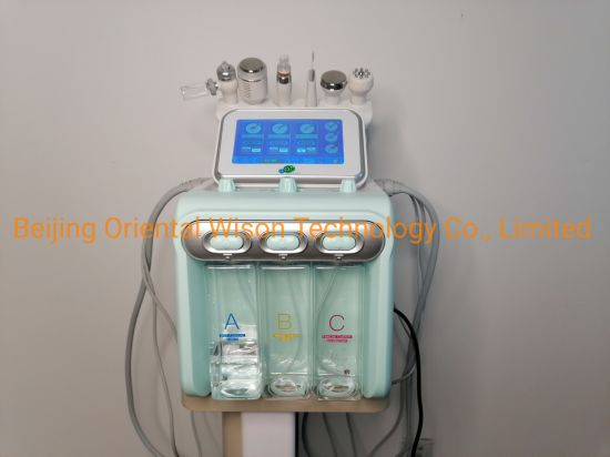 6 in 1 Small Bubble Machine Hydra Cleansing Water Oxygen Jet Peel Dermabrasion Beauty Machine Facial Care Equipment