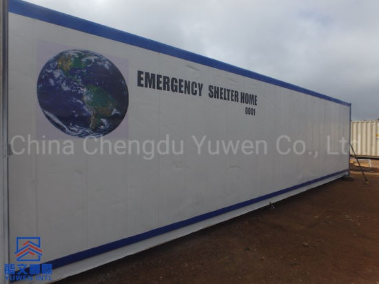 NGO Outside Emergency Prefab Container Home Shelter From China