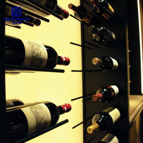 China Keenhai Oem Bespoke Display Stainless Steel Wine Rack China Wine Display Cabinet Display Cabinet