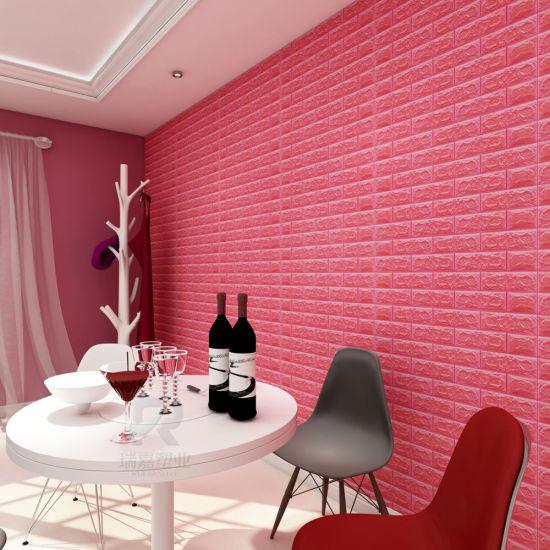 China Cheap Wallpaper For Sale Self Adhesive Wall Tiles Foam Brick 3d Wallpaper Walls Wholesale Home Decoration Warm Color Wallpaper China 3d Brick Tiles 3d Wallpaper