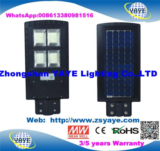 Yaye 18 Hot Sell 30W/30W/90W All in One Solar LED Street Light / Motion Sensor Street Light /Road Lamp with 2/3/5 Years Warranty