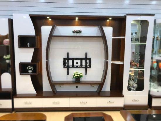 China New Model Mdf Board Wood Wall Mounted Tv Cabinet Design China Furniture Home Furniture