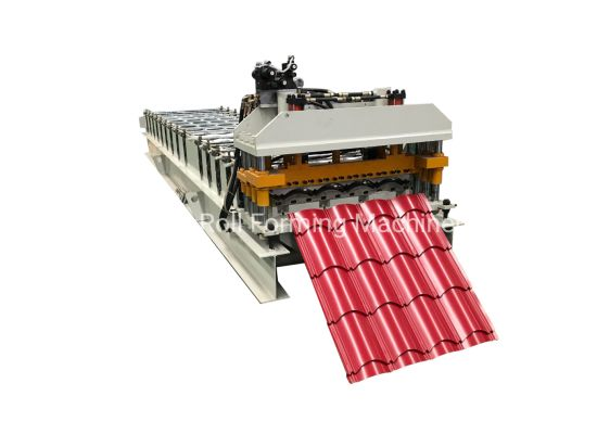 Colour Coated Metal Roofing Sheet Roll Forming Machine at Wholesale Price