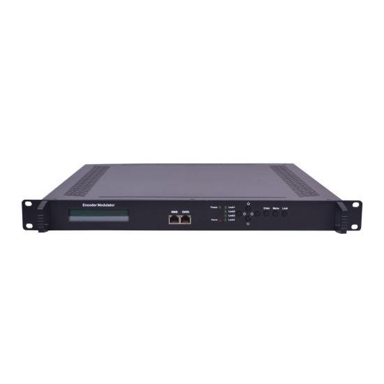 8 Channels DVB-C Encoder Modulator HD Qpsk Modulator