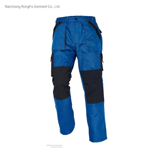 Contrast Color Matching Repair Machine Multi-Functional Pockets Men and Women Work Pants