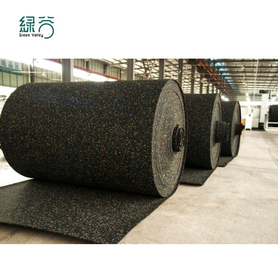3-12mm Thick Factory High Quality Shock Absorption Rubber Gym Flooring Rolls Wear Resistant Rubber Roll Gym Floor