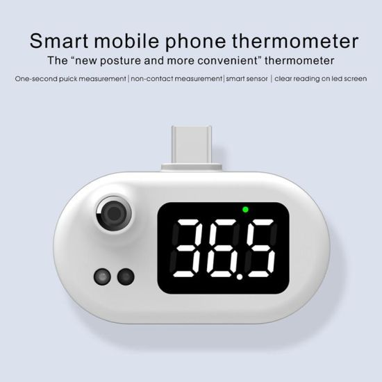 K051 K8 Smart Mobile Phone Thermometer OLED Digital Display Portable USB Micro Android Measurement Cell Phone K8 Thermometer